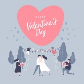 Happy Valentine's day with lovely couple Celebration.