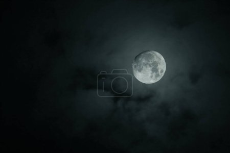 Photo for Full moon over night sky - Royalty Free Image