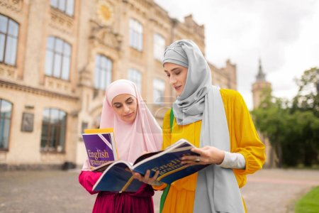 International muslim students feeling worried before exam