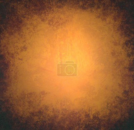 Photo for Abstract orange background in grunge style with copy space - Royalty Free Image