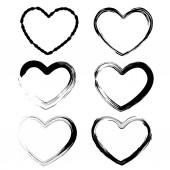 Set of hearts isolated on white background - Illustration