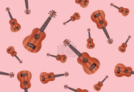 Photo for Seamless background with ukulele guitars - Royalty Free Image