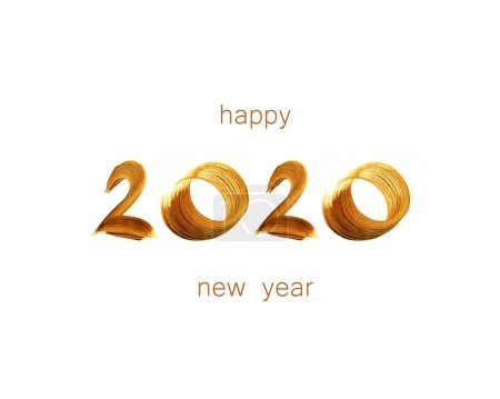 Photo for Hand drawn 2020 numbers, Happy New Year background - Royalty Free Image