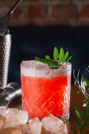 Photo for Cocktail in bar, alcohol drink - Royalty Free Image