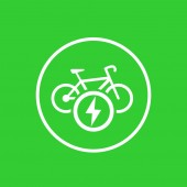 Electric bike icon charging station mark