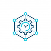 time management business planning vector icon