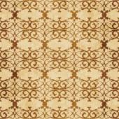 Retro brown cork texture grunge seamless background spiral curve cross luxury frame crest