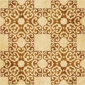 Retro brown cork texture grunge seamless background square curve cross crest frame