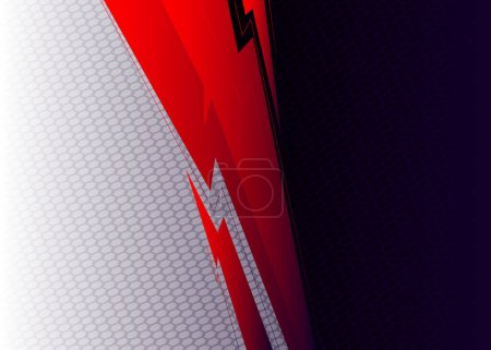 Illustration for Premium exclusive contrast background. Vector abstract gradient graphic design. - Royalty Free Image