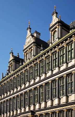 Photo pour Townhouse in Ghent. Flanders. Belgium - image libre de droit