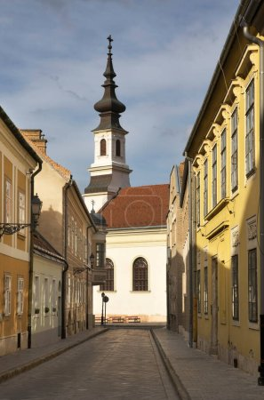 Photo pour Evangelical church at Burgviertel district of Budapest. Hungary - image libre de droit
