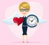 The concept of the time of love the time of date the wedding the day of St Valentine