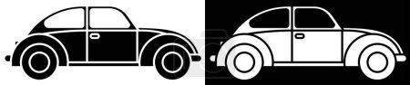 Photo pour Vintage classic car. Origin and development of automotive industry. Icon in linear style. Vector - image libre de droit