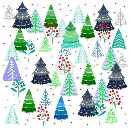 Motif des arbres fantastiques sur un fond blanc, Pantalon de Noël