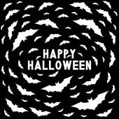 Happy Halloween card with bats
