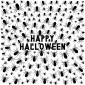 Happy Halloween card with spiders