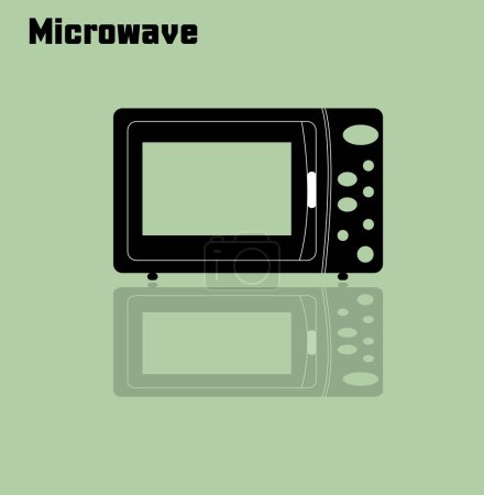 Photo for Microwave on color background, simple vector illustration - Royalty Free Image