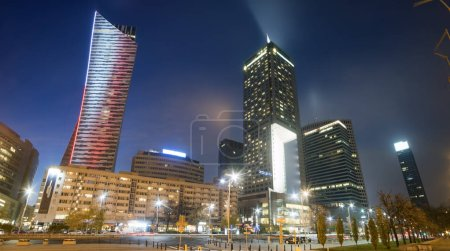 Photo for Warsaw, Poland, October 2016 : Warsaw city with skyscrapers - Royalty Free Image