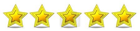 Photo pour Cinq étoiles - étoiles d'or brillants - image libre de droit