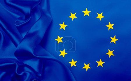 Foto de Bandera de la Unión Europea, marco completo - Imagen libre de derechos