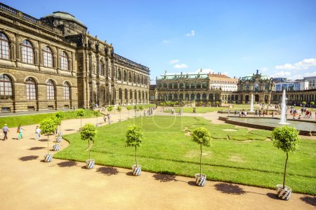 Photo for Dresden, Saxrony, Germany-May 2017:Famous Zwinger palace in Dresden, Saxrony, Germany - Royalty Free Image