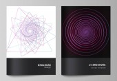 Vector layout of A4 format cover mockups design templates for brochure flyer booklet report Random chaotic lines that creat real shapes Chaos pattern abstract texture Order vs chaos concept