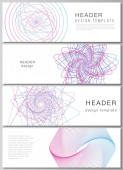 The minimalistic vector illustration of the editable layout of headers banner design templates Random chaotic lines that creat real shapes Chaos pattern abstract texture Order vs chaos concept