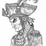 Hand drawn engraved illustration of sailor, seaman...