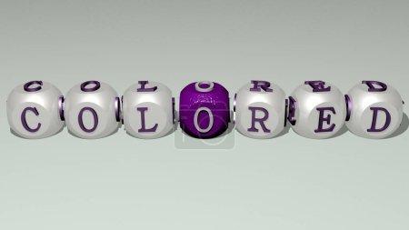 crucigramas de colores dispuestos por letras cúbicas en un piso espejo, significado concepto y presentación. fondo e ilustración