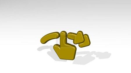 GESTURE SWIPE HORIZONTAL RIGHT 3D icon casting sha...