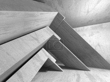 Abstract geometric architectural background with concrete texture