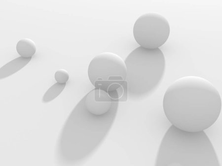 Abstract geometric art deco mockup background in white with shadows