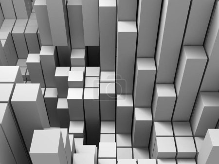 Abstract geometric background in white of cubes...