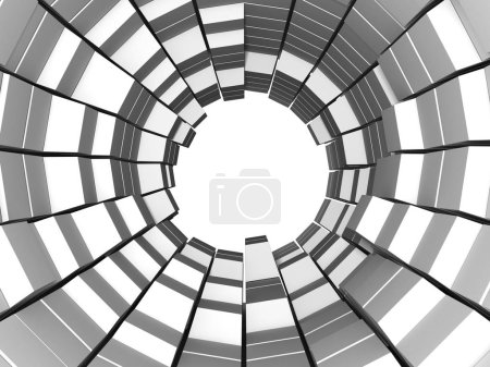 Abstract geometric background in white of cubes