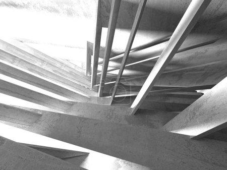 Foto de Fondo abstracto de arquitectura geométrica de hormigón. ilustración de renderizado 3d - Imagen libre de derechos
