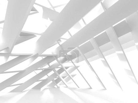 Photo pour Architecture blanche Construction Moderne Intérieur Arrière-plan. Illustration de rendu 3d - image libre de droit