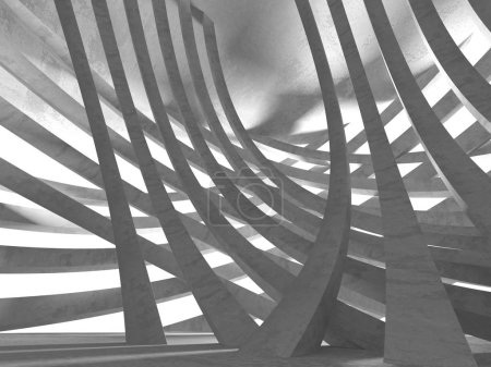 Photo for Concrete architecture background. Abstract empty dark room. 3d render illustration - Royalty Free Image
