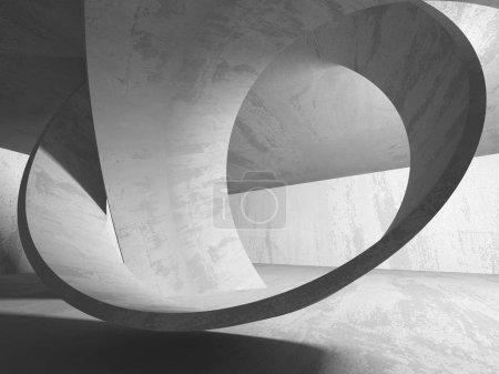 Résumé géométrique béton architecture fond. Illustration de rendu 3D