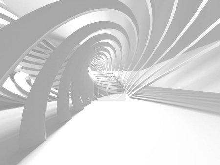 Photo pour Abstrait moderne fond d'architecture blanche. Illustration de rendu 3D - image libre de droit