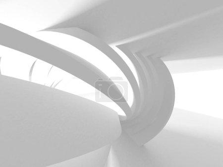 Photo pour Architecture blanche Construction Moderne Intérieur Fond - image libre de droit