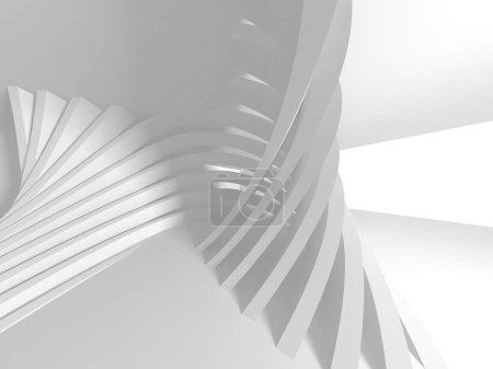 Photo pour Architecture blanche futuriste Contexte de conception - image libre de droit