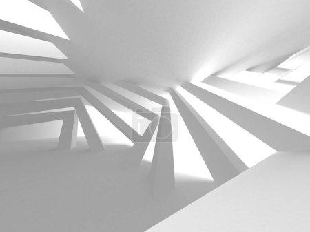 Photo for Futuristic White Architecture Design Background - Royalty Free Image