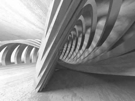 Photo for Dark concrete empty room. Modern architecture design. Urban textured background - Royalty Free Image