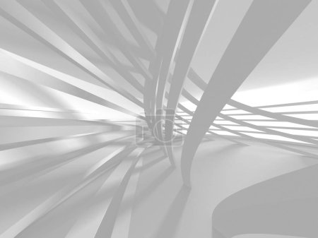 Photo for 3d illustration abstract modern white render architecture background. - Royalty Free Image