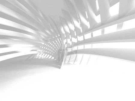Photo for 3d render illustration of futuristic white architecture design background. - Royalty Free Image