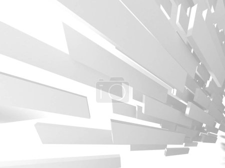 abstrakte moderne weiße Architektur Hintergrund. 3D-Darstellung