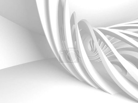 Photo for Abstract Modern White Architecture Background. 3d Render Illustration - Royalty Free Image