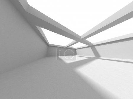 Foto de Fondo Futurista de Diseño de Arquitectura Blanca. Concepto de construcción. Ilustración de renderizado 3d - Imagen libre de derechos