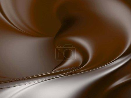 Photo pour Splash liquide chocolat sucré brillant.. 3d rendre illustration - image libre de droit