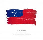 Samoa flag  Brush strokes are drawn by hand Independence Day